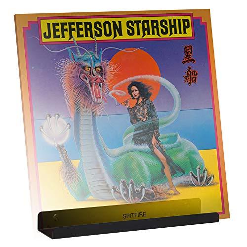 Hudson Hi-Fi Wandhalterung für Schallplattenregal – Präsentieren Sie Ihren Lieblings-LPs mit Stil – Black Satin – Veredelter Stahl – 1 Stück