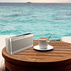 Bluetooth Speaker with Built-in Mic,16W Dual-Driver, Portable Wireless Speaker with Superior Stereo Sound, Rich Bass.