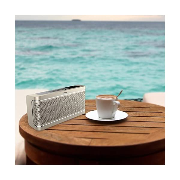 Bluetooth Speaker with Built-in Mic,16W Dual-Driver, Portable Wireless Speaker with Superior Stereo Sound, Rich Bass. 4