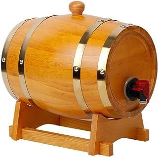 Tonneau à vin en Bois Whiskey Barrel 3L, Distributeur d'eau pour Fûts De Chêne Vieilli, pour Conserver Le Vin Vieilli, Teq...