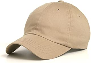 MG Wholesale Low Profile Dyed Soft Hand Feel Cotton Twill Caps Hats (Khaki) - 21203
