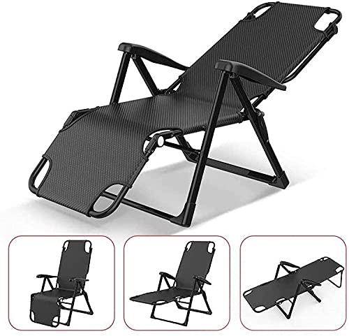 MUZIDP Zero Gravity Liegestuhl, klappbar, Liegestuhl, Liegestuhl, Zero Gravity Liegestuhl, Terrasse Zero Gravity Lounge-Stuhl, Garten liegend (Farbe: schwarz)