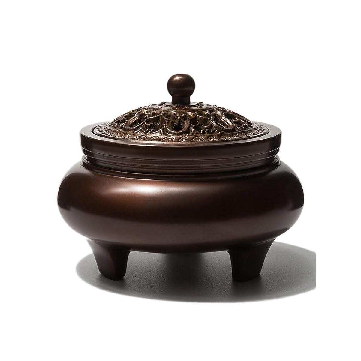 実験的夢中冷笑する芳香器?アロマバーナー 銅香バーナーアロマテラピーホルダー純粋な銅茶道白檀炉屋内香バーナーレトロノスタルジア11.5センチ* 7.8センチ* 9センチ アロマバーナー
