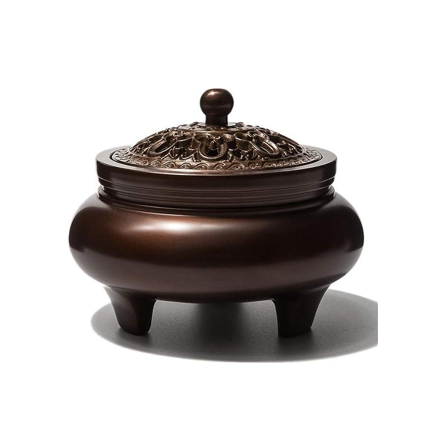 旋律的誘惑不毛芳香器?アロマバーナー 銅香バーナーアロマテラピーホルダー純粋な銅茶道白檀炉屋内香バーナーレトロノスタルジア11.5センチ* 7.8センチ* 9センチ アロマバーナー
