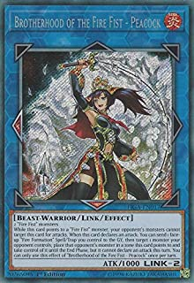 Yu-Gi-Oh! - Brotherhood of The Fire Fist - Peacock - FIGA-EN017 - Secret Rare - 1st Edition - Fists of The Gadgets