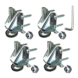 Heavy Duty Leveler Legs w/Lock Nuts - Leveling Feet for Furniture, Cabinets, Workbench - 4 Pack