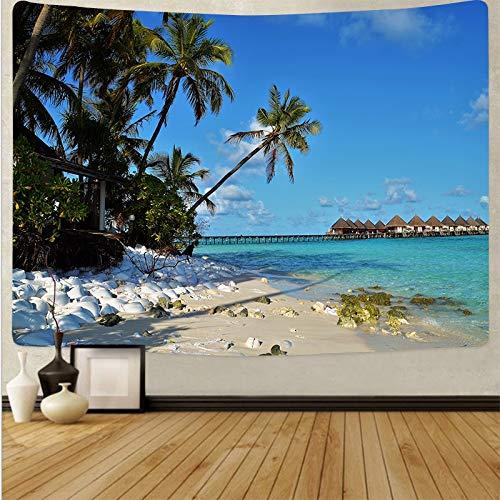 Tapiz de playa pared mar puesta de sol paisaje tapiz fondo toalla de playa fondo mandala bohemio tapiz de tela A11 180x230cm