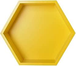 TOOGOO Madera Hierro Arte Rejilla Hexagonal Estante de Pared Combinaci/óN Colgante de Pared Figura Geom/éTrica Decoraci/óN de Pared-Negro S