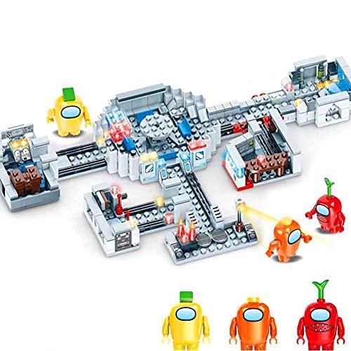 OWIEXNC Building Blocks Set, 3 Space Alien Figures Peluche Game Model Kit Bricks Kids Toy Gift, 437 Pieces