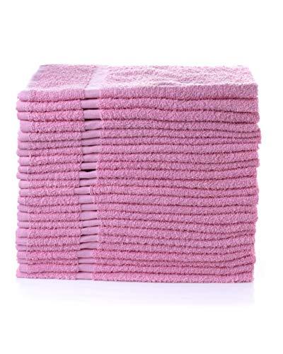 "Simpli-Magic Cotton Towels, 16""x27"", Pink 12 Count"
