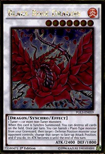 Yu-Gi-Oh! - Black Rose Dragon (PGL3-EN059) - Premium Gold: Infinite Gold - 1st Edition - Gold Rare by Yu-Gi-Oh!