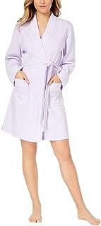 Intimates Knit Short Robe 2X Plus Light Amethyst Light Weight