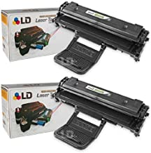 LD Compatible Toner Cartridge Replacement for Samsung ML-2010D3 (Black, 2-Pack)