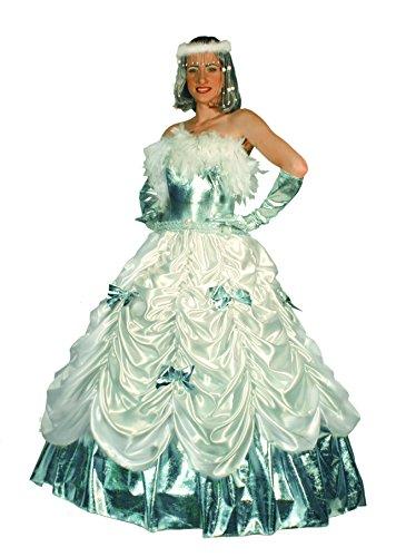 FIORI PAOLO GR5248 - Disfraz de Carnaval Dama de Hielo Venecia M Bianco/Azzurro