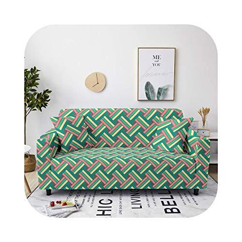 Sofa Covers - Funda de sofá extensible con diseño geométrico 3D para salón de spandex, funda de protección de muebles 11-1-Seater 90-140 cm