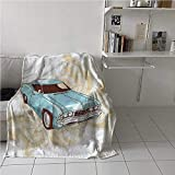 painting-home Blanket Cars, Classical Sports Car Retro Hospital Thermal Blankets Machine Washable and Dryable 40 x 60 Inch