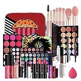 JUMN likeitwell Set de Maquillaje, Combinación de Maquillaje Set de Regalo Paquete de Maquillaje Kit cosmético de Belleza para Principiantes Esenciales Natural