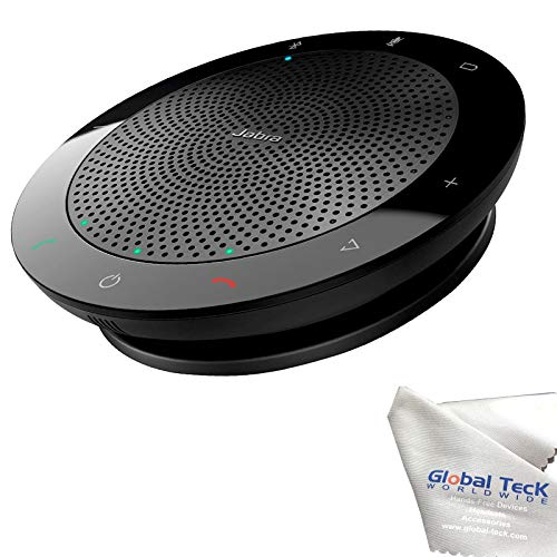 Jabra Speak 510 Bluetooth Speakerphone with Microfiber Cloth   PC, MAC, Tablet, Smartphone Compatible, MS Teams Skype Version 7510-109