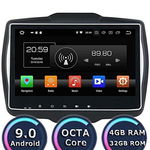 ROADYAKO 9Inch Android 8.0 Auto Radio Stéréo pour Jeep Renegade 2015 2016 2017 Navigation GPS 3G WiFi Lien Miroir RDS FM AM Bluetooth AUX Multimédia Audio Vidéo