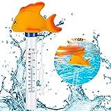 Emooqi Flotante Piscina Termómetro, Temperatura del Agua Termómetros Termómetro De Dibujos Animados para Todo Uso En Interiores y Exteriores Piscinas, Spas, Jacuzzis, Acuarios y Peces Estanques