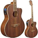 Lindo Feeling - Guitarra electroacústica (con preamplificador, afinador digital, conector XLR/conectores hembra y funda para guitarra)