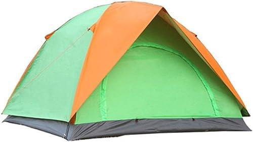 Yocobo Tente de Plage extérieure Tente de Camping à Deux battants, Tente de Camping extérieure (Couleur   Orange vert, Taille   200cm200cm135cm)