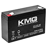 KMG 6V 12Ah Replacement Battery Compatible with Tripp-Lite SMX500RT1U TE300 TE600