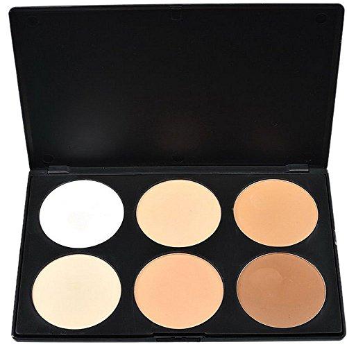 Pure Vie® 6 Couleurs Palette de Maquillage Poudre pour le Visage Correcteur Camouflage Cosmétique Set - Convient Parfaitement pour une Utilisation Professionnelle ou à la Maison