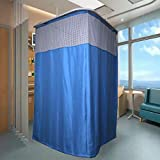 Brand Name GLEMTECH | Material : Polyester Soft Touch, Easy Care, PVC Free, Mold Mildew Free, Water Proof Hospital Partition Curtains | Used in ICU and Wards | White Square or Ovel Net at the top 7 Feet Height with Different Widths | Eyelets at the t...