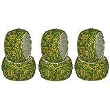 DakshCraft Verde y de Abalorios Anillos de servilleta de Oro - Juego de 6, Tabla de los Accesorios del Producto & Perfecto para Comer Decoración - Dia - 3,81 cm