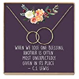 Dear Ava Miscarriage Gift Necklace: Loss of Baby, Sympathy Gift, Infant Loss Gift, Loss of Child Gift, in Loving Memory, 2 Interlocking Circles (Gold-Plated-Brass, NA)