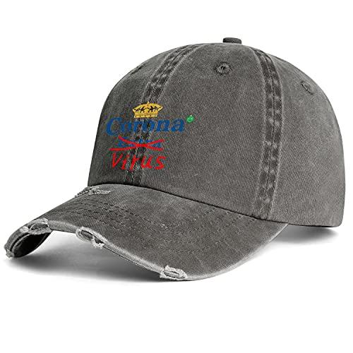 LunchBaggg Washed Denim Cap Funny-Coronavirus- Adjustable Trucker Hat Outdoor