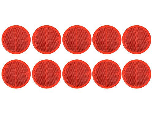 10x Reflektor rot Ø60mm selbstklebend von The Drive