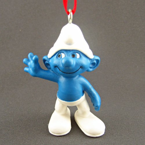 Clumsy Smurf Ornament - Great for Holiday Christmas Tree or Smurfs Decor / Party Favors
