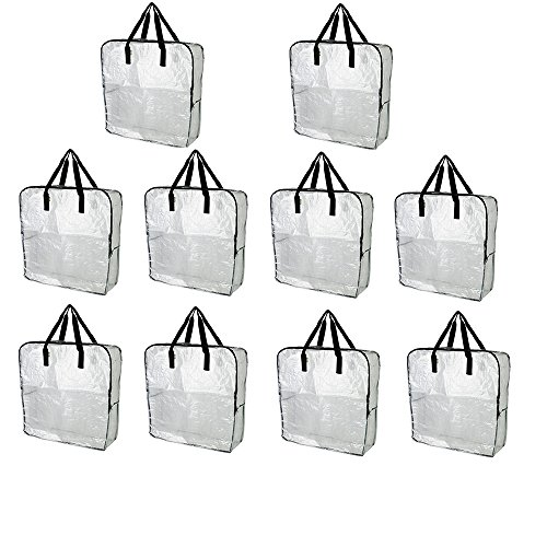 IKEA DIMPA Extra Large Storage Bag, Clear Heavy Duty Bags, Moth Moisture Protection Storage Bags (Pack of 10)