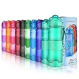 WINPOST Bottiglia d'Acqua Sportiva Senza BPA - Borraccia 500ml&700ml&1000ml (Matte Emerald, 380ml)