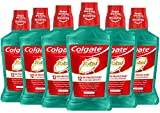 Colgate Total Pro-Shield Alcohol Free Mouthwash, with CPC (Cetylpyridinium Chloride), Antibacterial Formula, Spearmint - 500 mL, 16.9 fluid ounce (6 Pack)