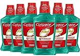 Colgate Total Alcohol Free Mouthwash, Spearmint - 500 mL, 16.9 fluid ounce (6 Pack)