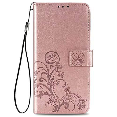 LINER Funda para Xiaomi Poco F3 Billetera Estuche, Premium Cuero PU Soporte Plegable Ranuras para Tarjetas Magnético Ultra Delgado Flip Carcasa para Xiaomi Poco F3 - Oro Rosa