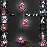 Deuba LED Acryl Figur Weihnachtsdeko Beleuchtung Weihnachten Hirsch Indoor Outdoor - 2