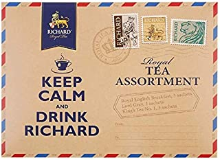 RICHARD Royal black tea assortment, 9 sachets 18g/0.63oz (Keep Calm)