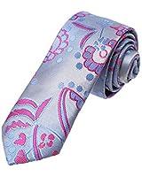 Gray Skinny Neckwear For Mens 5.5 Cm Polyester Floral Print Thin Ties DAE7B11C Dan Smith Light Gray,Medium Violet Red,Light Sky Blue