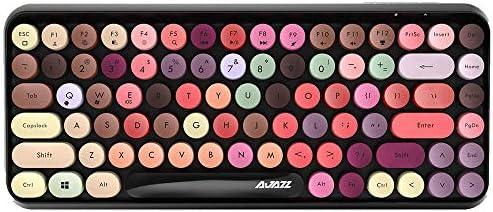Multi Device Wireless Bluetooth Keyboard Mini 84 Key Retro Round Keycaps Wireless Bluetooth product image