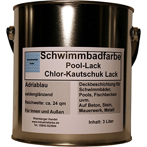 Schwimmbadfarbe, Pool-Lack, Chlor-Kautschuk Lack,...