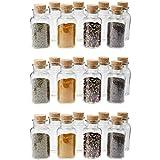 24 WELLGRO® Gewürzgläser mit Kork Verschluss - 300 ml