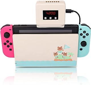 2021人気版 SiciMux Switch対応 冷却ファン Nintendo スイッチ用 冷却ファン ハイパワー 冷やすッチ ゲームラジエーター クーラー 冷感 静音 排熱 温度表示 風量変更可能 FCC RoSH CE 認証 ホワイト
