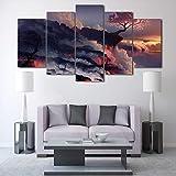 JIAORLEI Leinwand Wandkunst Poster Wohnzimmer Bilder 5