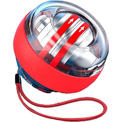 YLWZZ Powerball Autostart Rotationsball Rotations-Ball Für Hand- Und Armtraining, Mit 10.000 Umdrehungen/Min Gyroskopischer Handtrainer (rot)