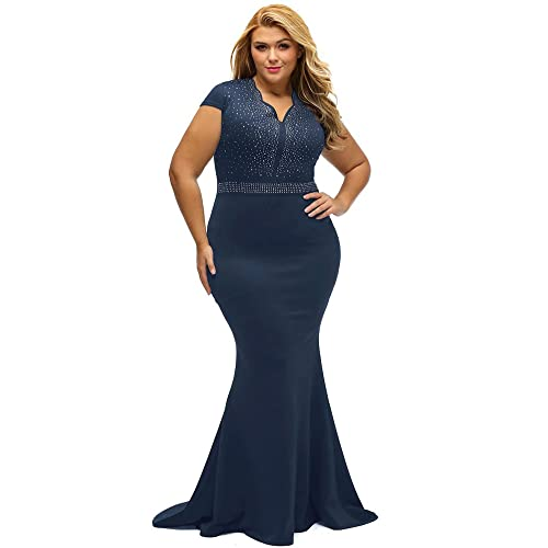 Navy Plus Size Dresses: Amazon.com