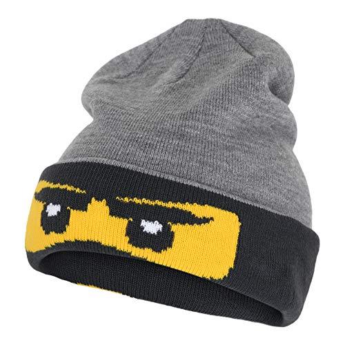 Lego Wear Jungen LWANTONY-Lego Ninjago Beanie-Mütze, 921 Grey Melange, 54/56